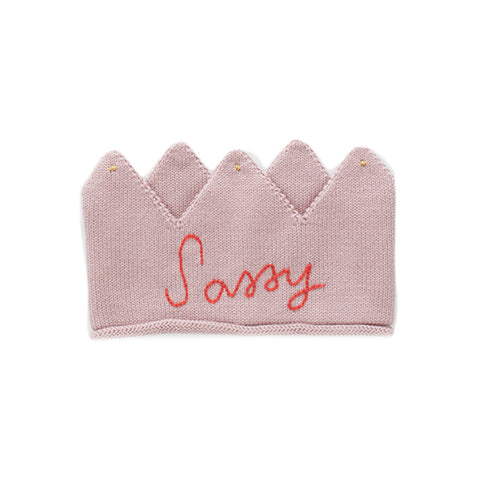 Sassy Knit Crown- Mauve Pink