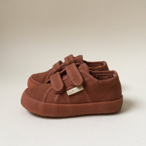 Konges x Superga Limited Collab Velcro Shoes- Cognac