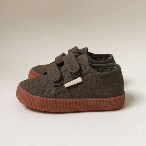 Konges x Superga Limited Collab Velcro Shoes- Dark Olive