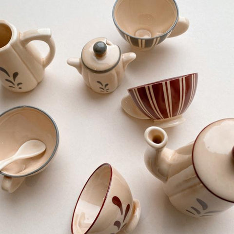 Ceramic Danish Tea Set