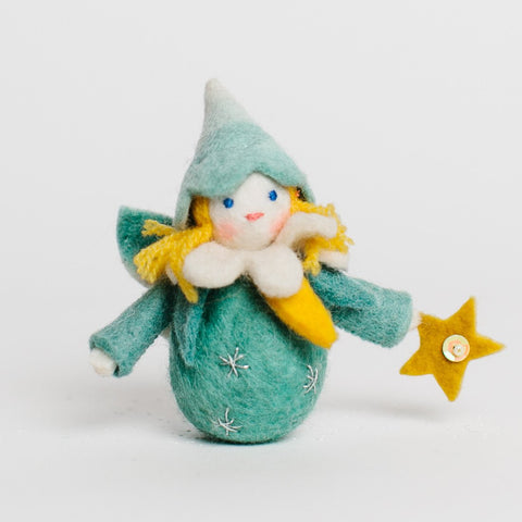 Night Star Fairy Felt Ornament