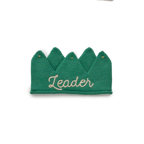 Alpaca Wool Leader Knit Crown- Green
