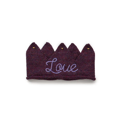Alpaca Wool Love Knit Crown- Purple