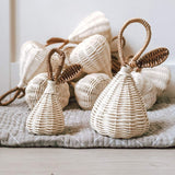 The Rattan Pear Rattle- Available in Two Sizes!
