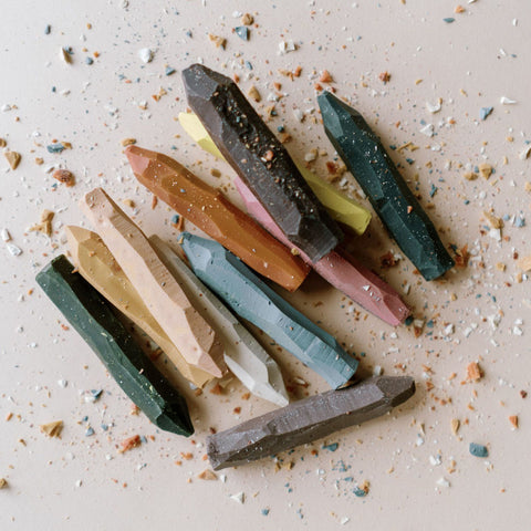 Botanical Wax Natural Crayons with Canvas Roll
