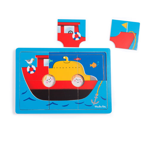 French All Aboard Wooden Puzzle