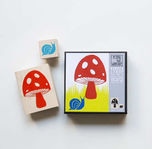 Stamp Set- Mushroom and Snail