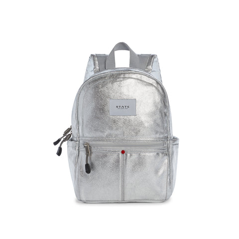 Mini Kane Backpack- Metallic Silver