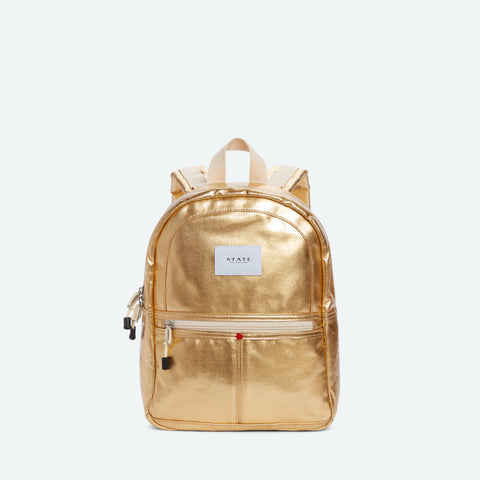 Mini Kane Backpack- Metallic Gold