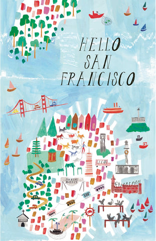 San Francisco Watercolor Print Poster