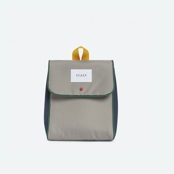 Richmond Lunch Sack- Gray/Blue