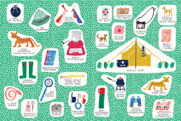 The Safari Set Sticker Booklette