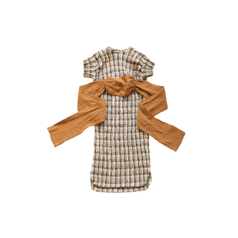 Brown Checkered Dress