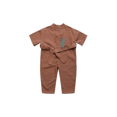 Saddle Brown Jumpsuit