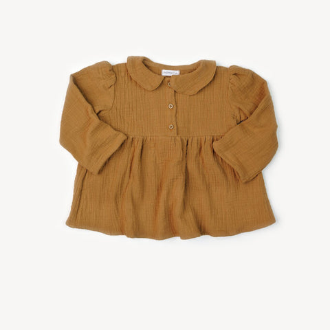 Collar Blouse- Honey Double Gauze