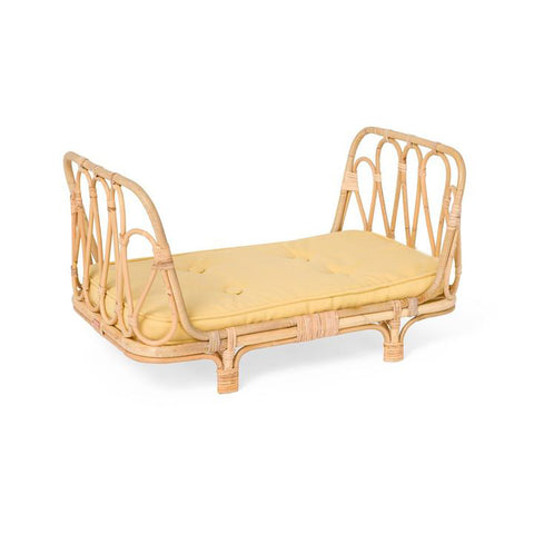 Rattan Doll Daybed- Yellow