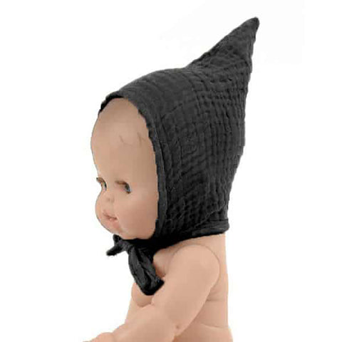 French Baby Doll Outfit: Black Pointy Bonnet