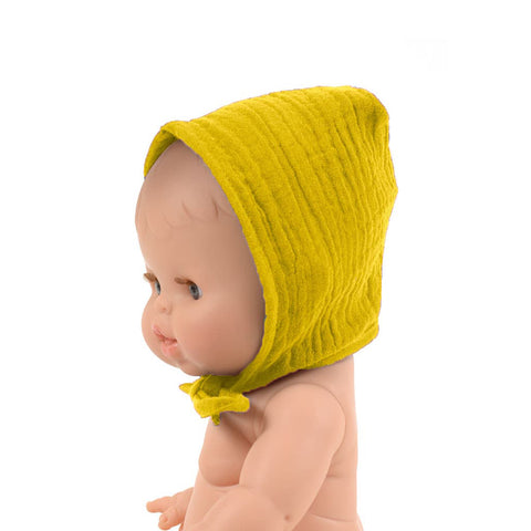 French Baby Doll Outfit: Yellow Bonnet