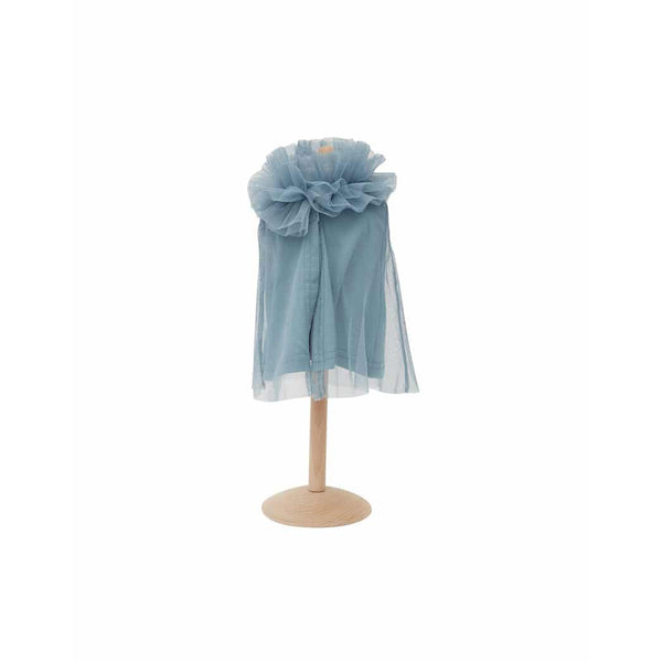 Ruffled Doll Cape-Blue