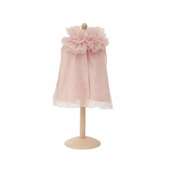 Ruffled Doll Cape-Pink