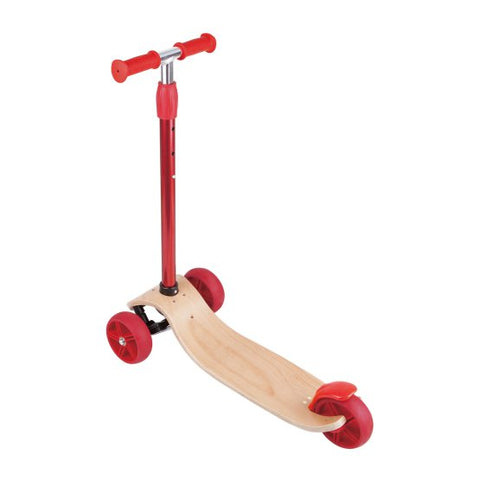 Wooden Red Push Scooter
