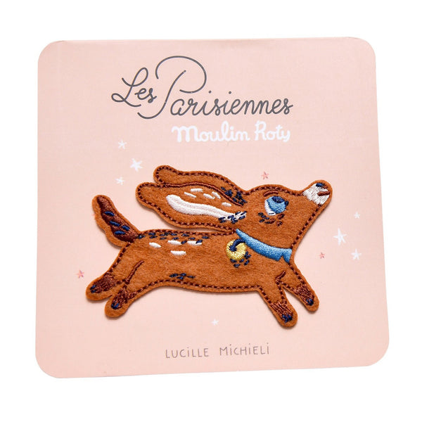 Les Parisiennes Puppy Embroidered Patch