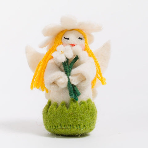 Spring Daisy Fairy Felt Ornament