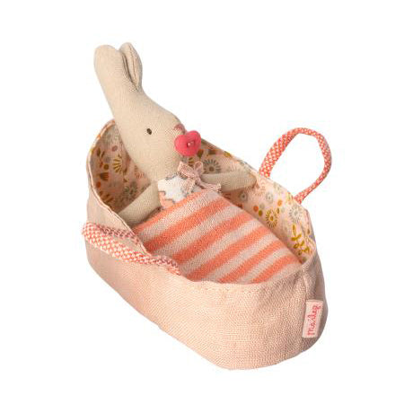 My Rabbit in Carry Cot- Pink