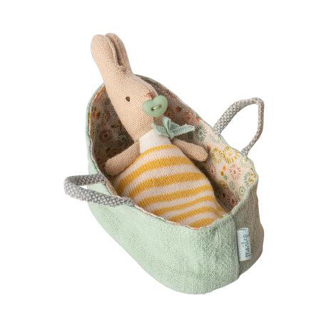 My Rabbit in Carry Cot- Mint
