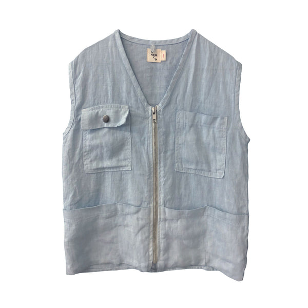 Dru Fisherman's Vest- Sky Blue