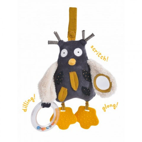 Les Moustaches Activity Owl Toy