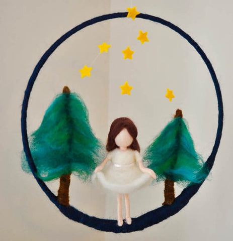 Wool Felt Mobile Hanging- Woodland Fairy