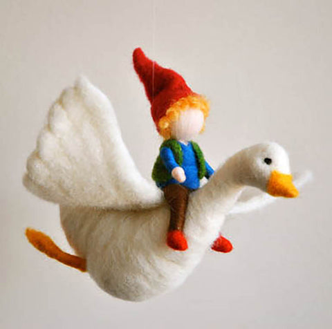 Wool Felt Mobile Hanging- Boy and The Goose