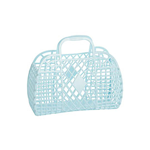 Retro Jelly Large Basket- Blue