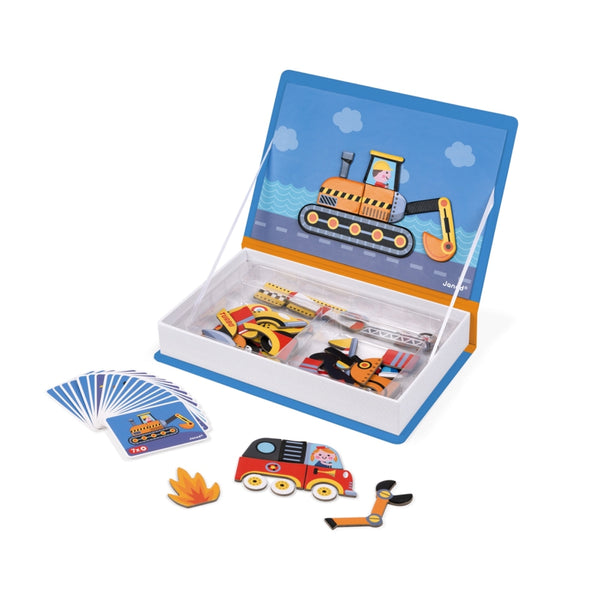 Vehicles Magnetic Game Set