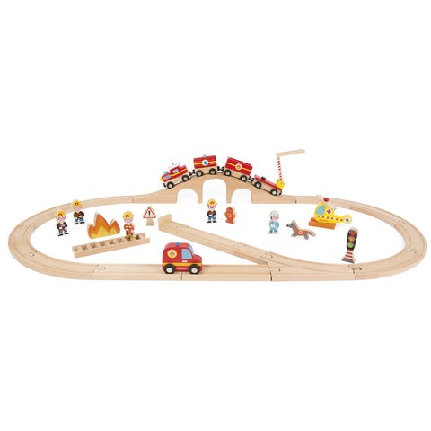 Firefighters Deluxe Train and Railroad Express Set