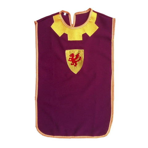 Knight Tabard- Burgundy and Mustard