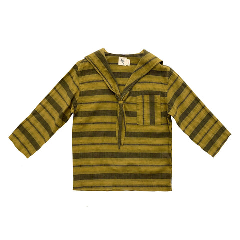 Tomas Sailor Stripe Shirt- Chartreuse