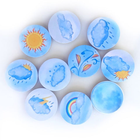 Wooden Weather Magnet Set