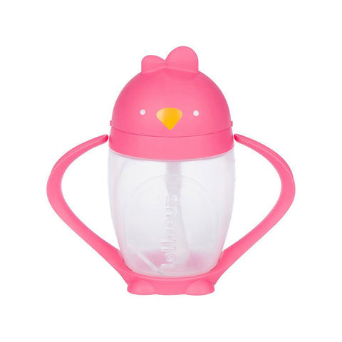 Lollacup- Straw Sippy Cup Pink