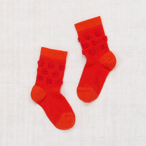 Popcorn Crew Socks- Hot Red
