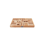 Wooden Story Natural Building Blocks in Tray- 54pcs