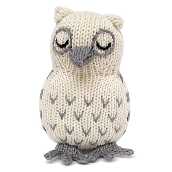 Organic Owl Toy Baby Rattle