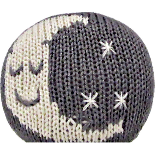 Organic Moon Toy Baby Rattle