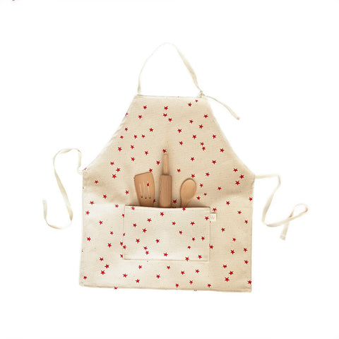 Kids Apron Set - Red Stars