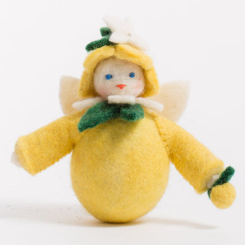 Lemon Drop Fairy Felt Ornament