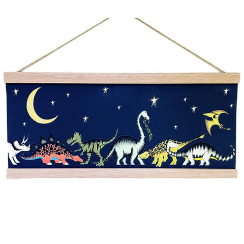 Art Hanger Poster: Dinosaur Moon and Stars