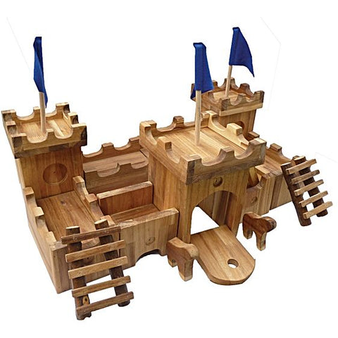 Wooden Medieval Castle Set