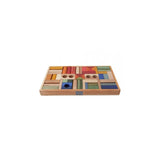 Wooden Story Rainbow Building Blocks in Tray- 54pcs