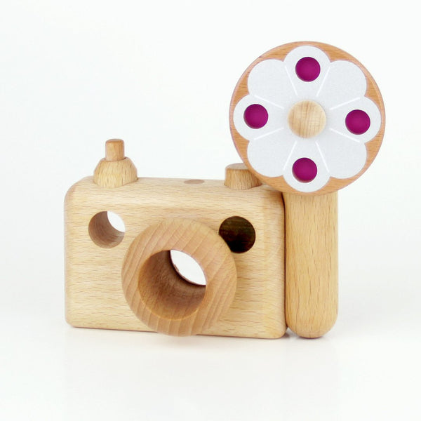 35mm Vintage Style Wooden Toy Camera with Kaleidoscope